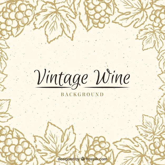 Fundo do vintage com um quadro floral Vetor Premium