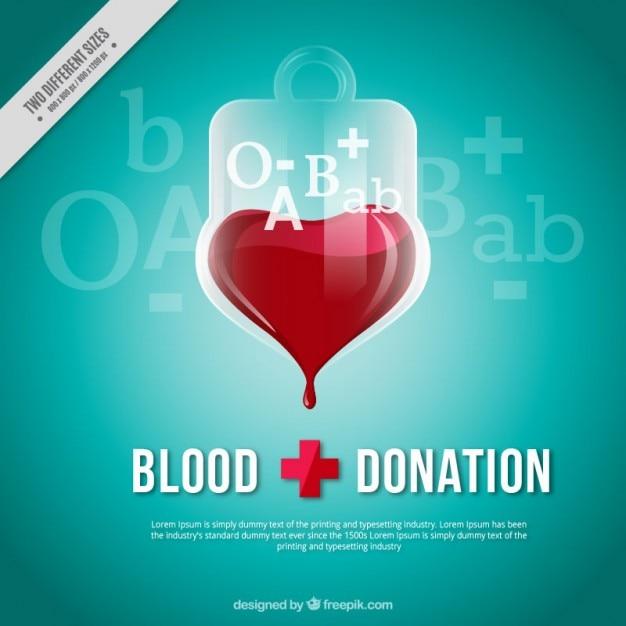Fundo dontation sangue Vetor Premium