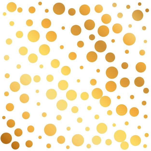 Fundo dourado círculos padrão pode ser usado como um papel de embrulho ou design wallpaper Vetor grátis