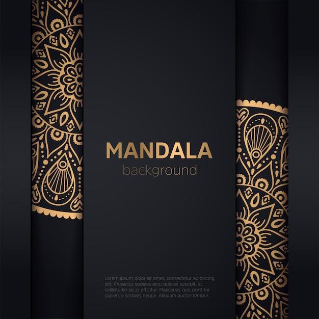 Fundo dourado com mandala Vetor grátis
