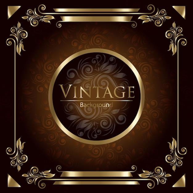 Fundo dourado do vintage Vetor grátis