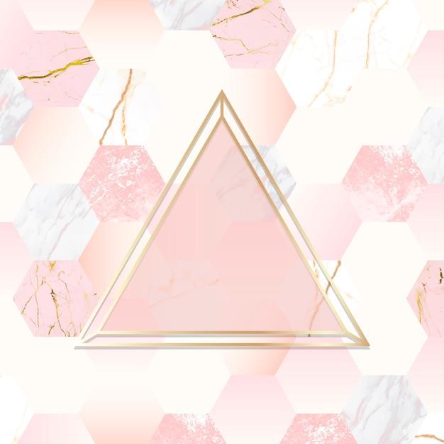 Fundo dourado e rosa Vetor grátis