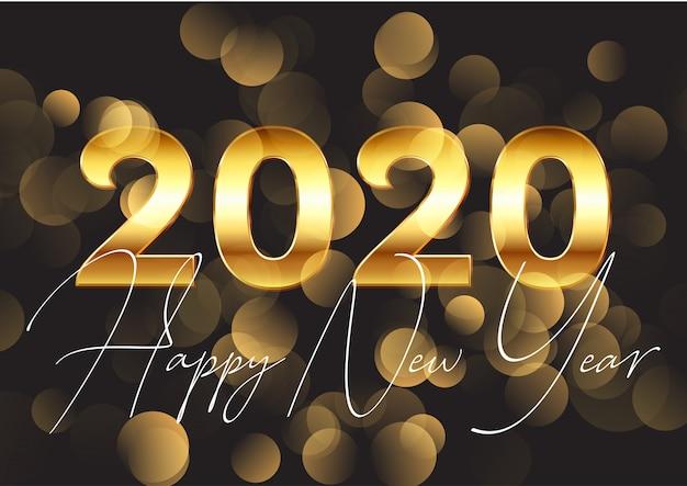 Fundo dourado feliz ano novo Vetor grátis