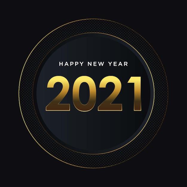 Fundo dourado feliz ano novo Vetor Premium