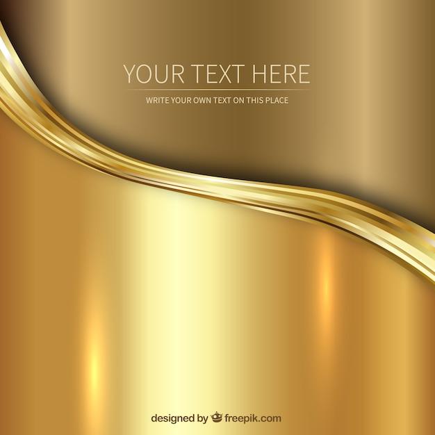Fundo dourado Vetor grátis