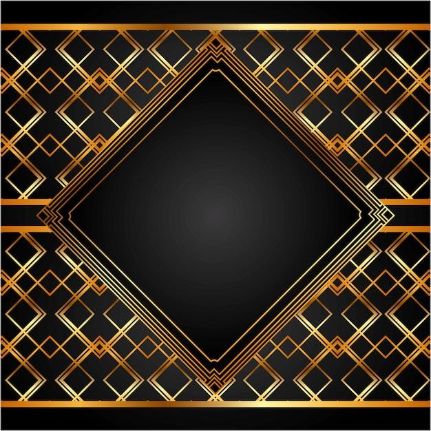 Fundo dourado Vetor Premium