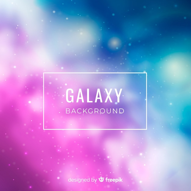 Fundo elegante galáxia turva Vetor grátis