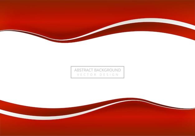 Fundo elegante onda de negócios vermelho Vetor grátis