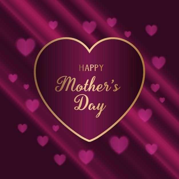 Fundo elegante para o dia das mães Vetor grátis