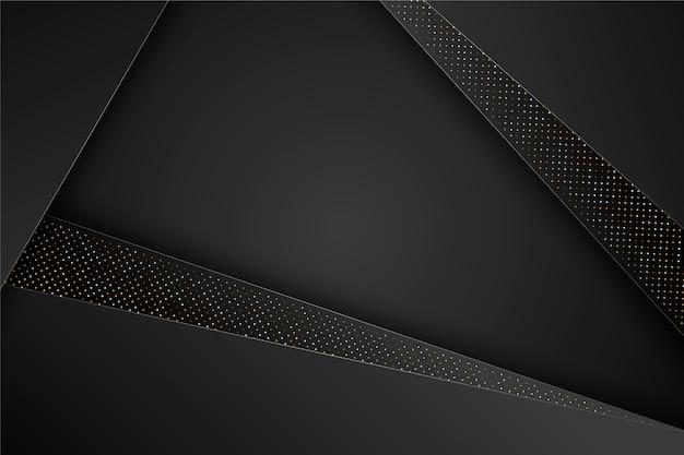 Fundo elegante preto camadas geométricas Vetor grátis