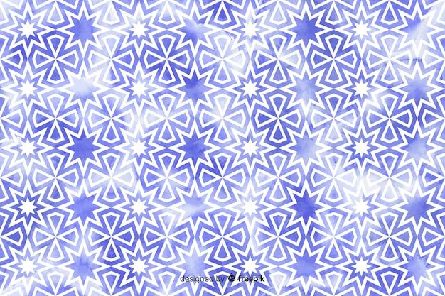 Fundo em aquarela floral mosaico Vetor grátis