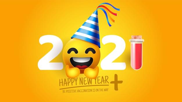 Fundo engraçado realista do ano novo 2020 Vetor grátis