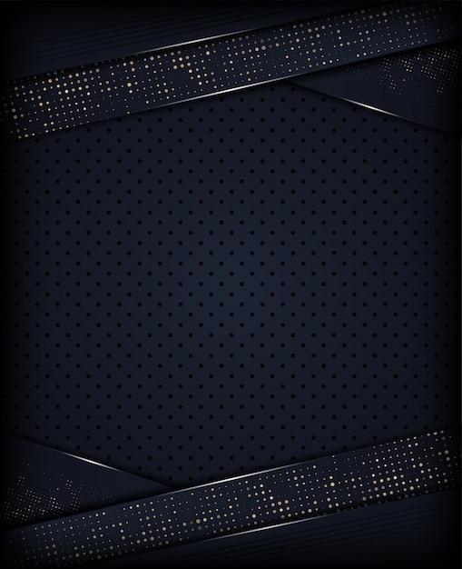 Fundo escuro abstrato com glitter metálico Vetor Premium