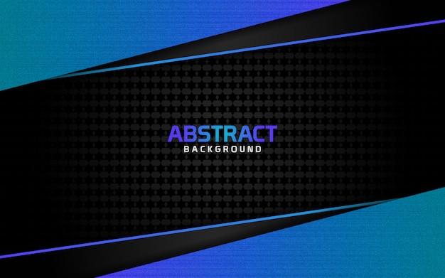 Fundo escuro abstrato e linhas azuis em estilo Vetor Premium