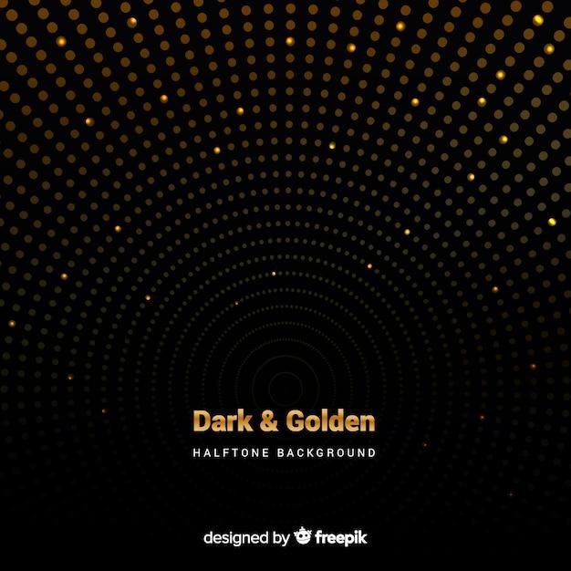 Fundo escuro com faíscas douradas Vetor grátis