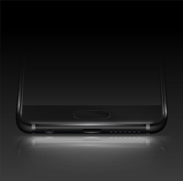 Fundo escuro com fundo de smartphone Vetor Premium