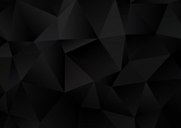 Fundo escuro de baixo poli Vetor grátis