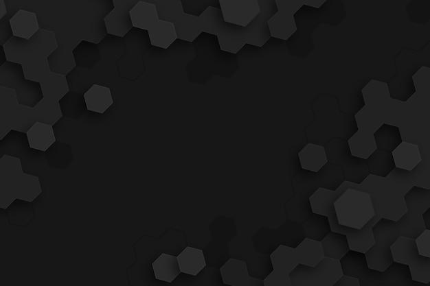 Fundo escuro de hexágonos mínimos Vetor grátis