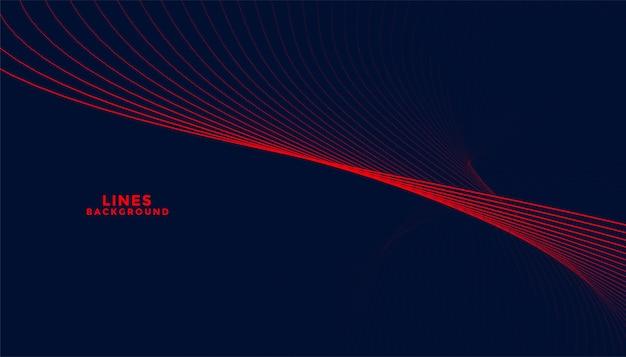 Fundo escuro de partículas com formas onduladas vermelhas Vetor grátis