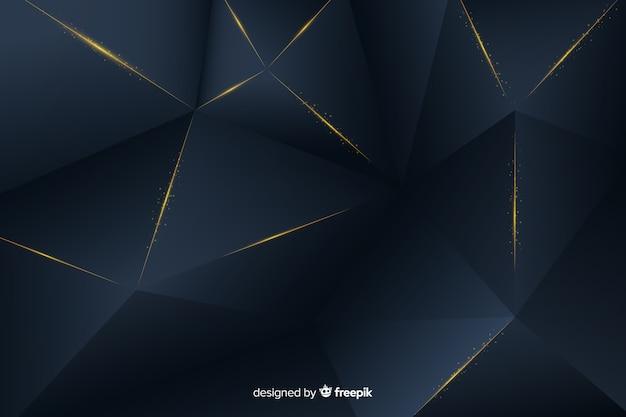 Fundo escuro elegante com formas poligonais Vetor grátis