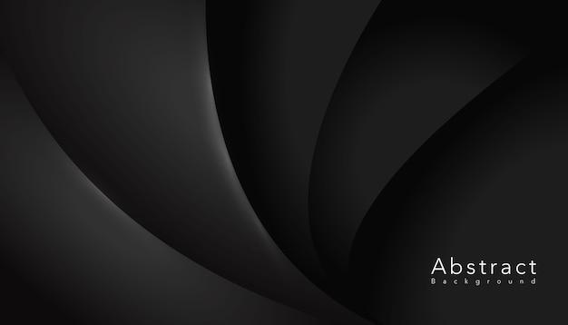 Fundo escuro elegante forma ondulada Vetor grátis