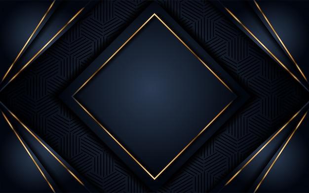 Fundo escuro luxuoso com glitter dourado Vetor Premium