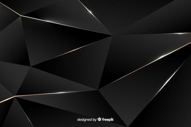 Fundo escuro poligonal de luxo Vetor grátis