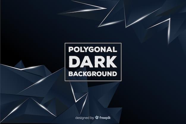 Fundo escuro poligonal Vetor grátis