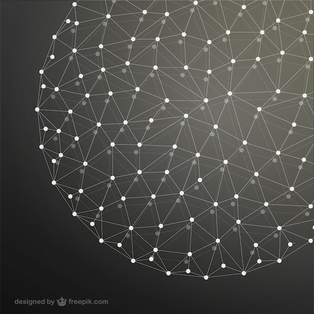 Fundo esfera rede Vetor grátis