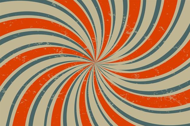Fundo espiral retro grunge Vetor grátis