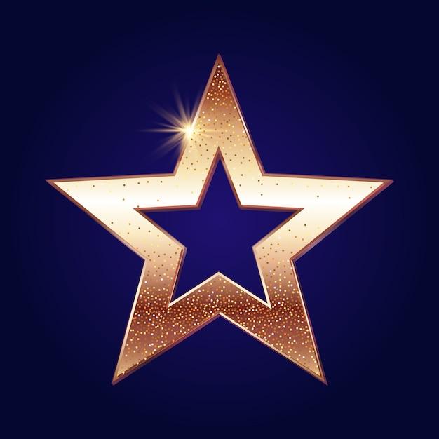 Fundo estrela dourada Vetor grátis