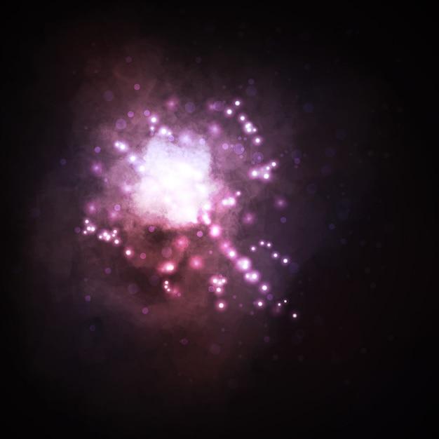 Fundo estrelado, rica estrela formando nebulosa Vetor Premium