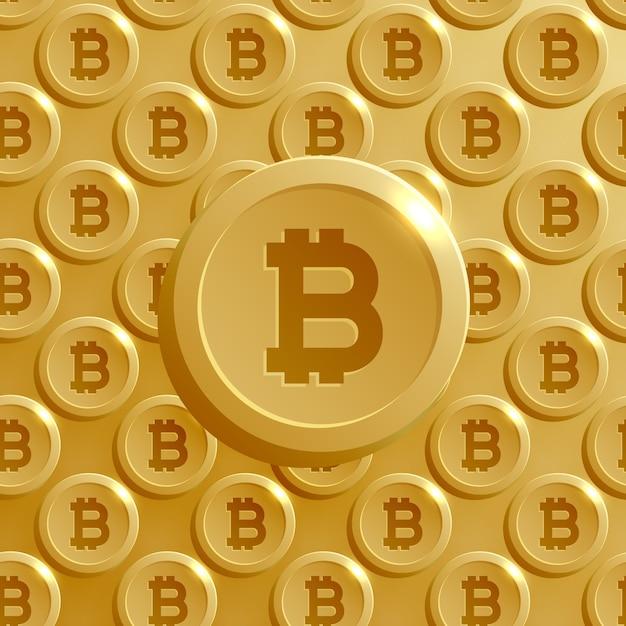 Fundo feito com padrão bitcoins Vetor grátis