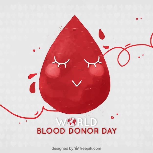Fundo feliz da gota do sangue Vetor Premium