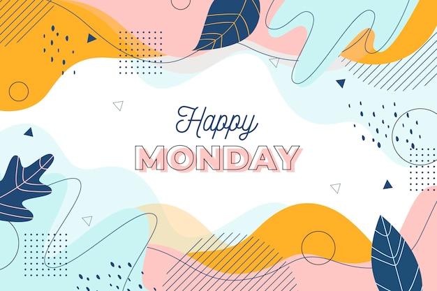 Fundo feliz de segunda-feira memphis Vetor Premium