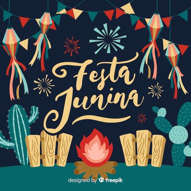 Fundo festa junina Vetor grátis