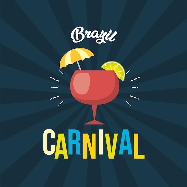 Fundo festival de carnaval do brasil Vetor grátis