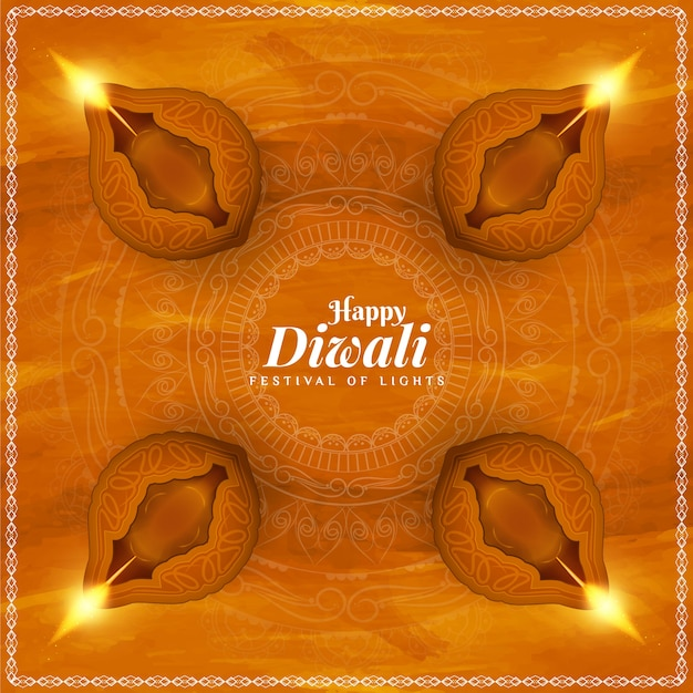 Fundo festival indiano feliz diwali feliz Vetor grátis