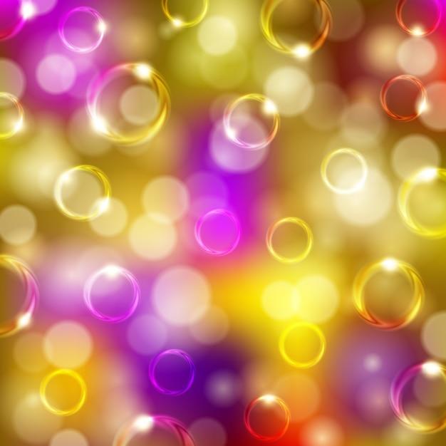 Fundo festivo com bolhas, bokeh Vetor Premium