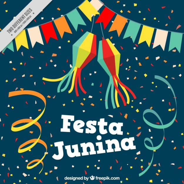 Fundo festivo da festa junina Vetor grátis