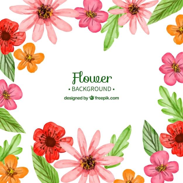 fundo flor com estilo aquarela vetor grtis