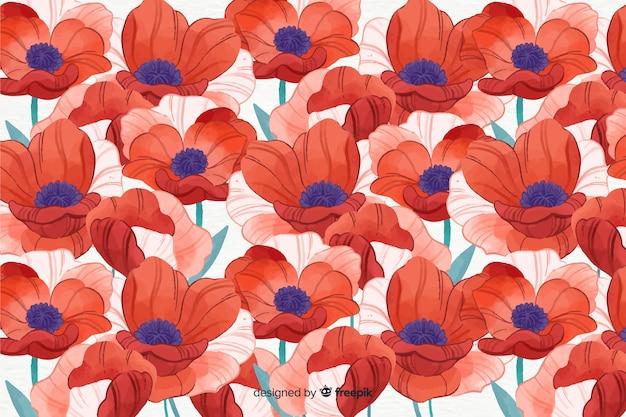 Fundo floral colorido estilo aquarela Vetor grátis