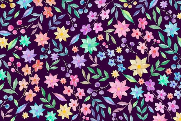 Fundo floral colorido Vetor grátis