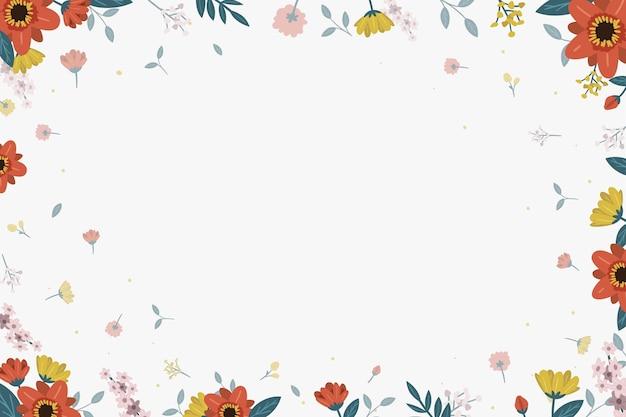 Fundo floral com folhas Vetor grátis