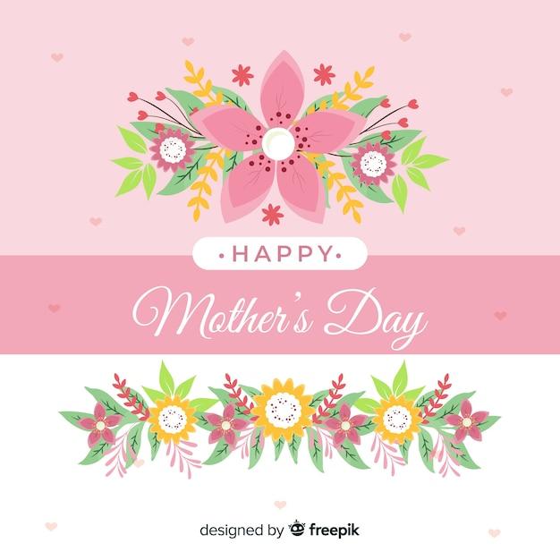 Fundo floral de dia das mães Vetor grátis