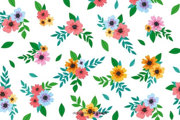 Fundo floral decorativo de pintados à mão Vetor grátis