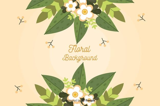 Fundo floral design plano colorido Vetor grátis