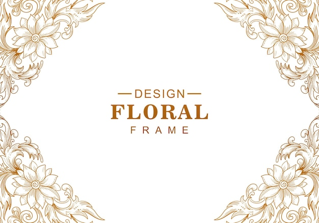 Fundo floral dourado decorativo étnico Vetor grátis