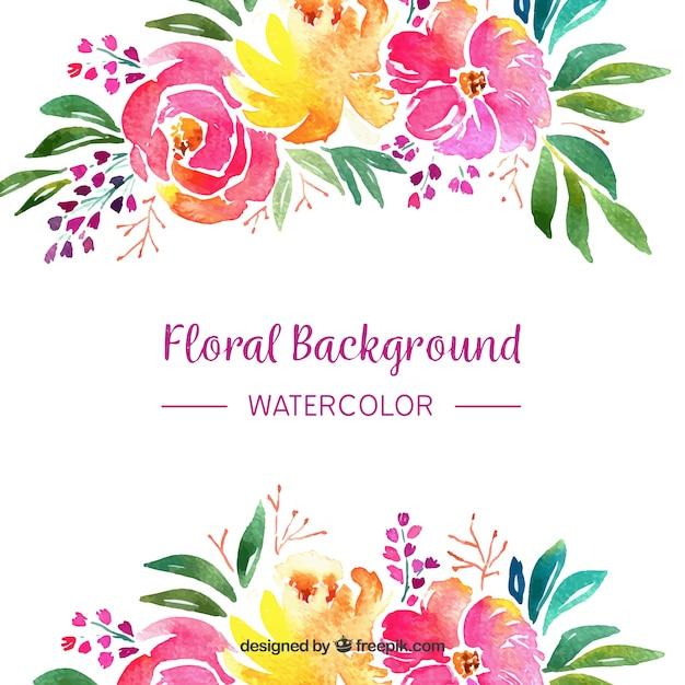 Fundo Floral Em Estilo Aquarela Baixar Vetores Gr 225 Tis