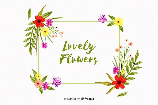 Fundo floral estilo aquarela Vetor grátis